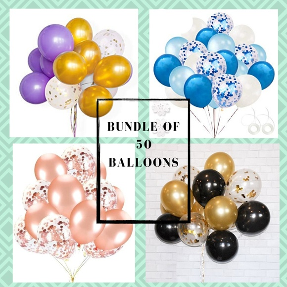 Independent Other - 50 Pieces of Variety Of Latex Balloons, 12 Inch 🌸